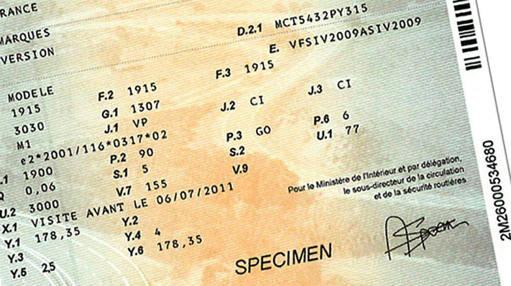 Demande de duplicata de carte grise (perte, vol, déterioration)